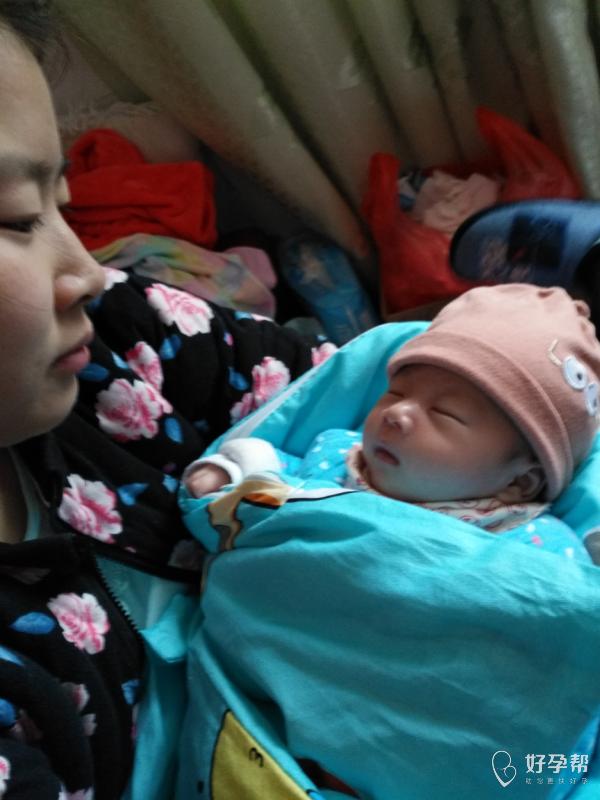 我生啦 刨腹产生下了二胎宝宝