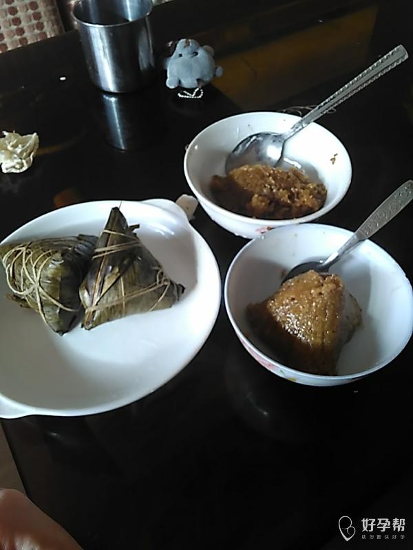 我和闺女的午餐,肉粽子,-其它-情感交流论坛-好孕帮